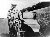 Tom with the Triumph and added sidecar in the mid 1920s