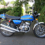 Blue Kawasaki S2A 350 triple