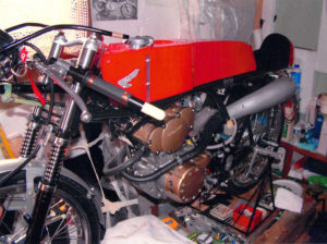 Honda RC115 Replica in Workshop